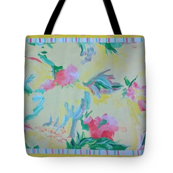 Garden Party Floorcloth Tote Bag