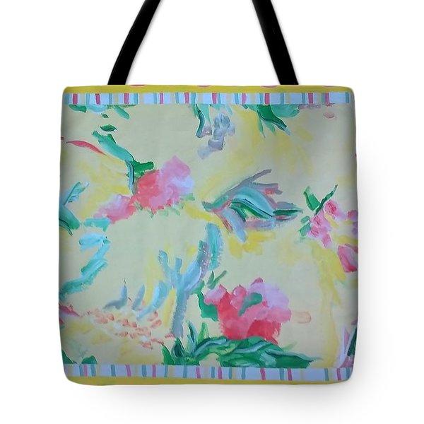 Garden Party Floorcloth Tote Bag by Judith Espinoza