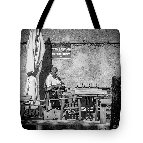 Tote Bag featuring the photograph Garden-party by Hans Janssen
