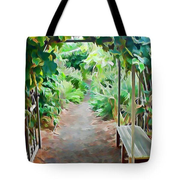 Garden Path Tote Bag by Pamela Walton