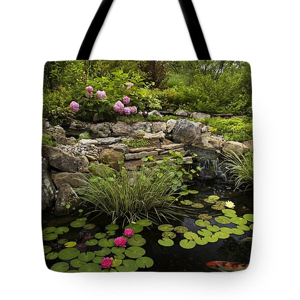 Garden Pond - D001133 Tote Bag