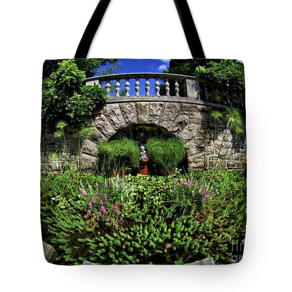 Tote Bag featuring the photograph Garden Pond by Mark Miller
