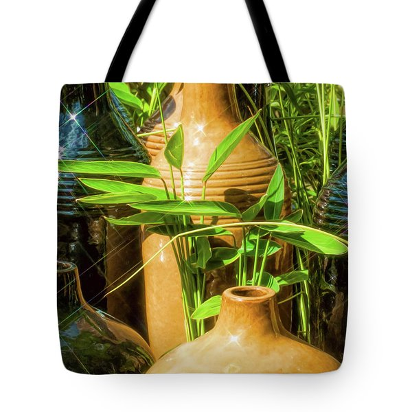 Garden Pottery Jugs Tote Bag