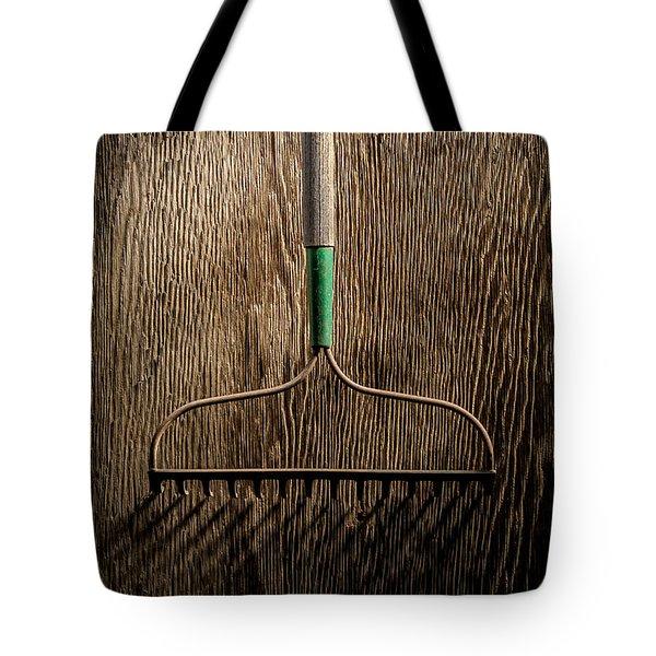Tools On Wood 8 Tote Bag by Yo Pedro