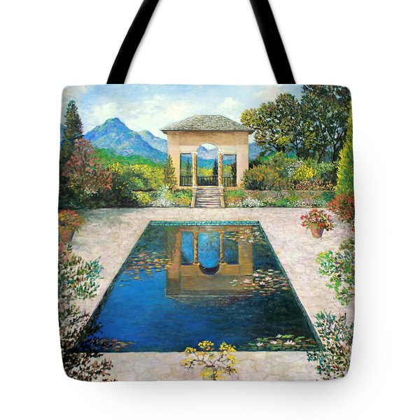 Garden Reflection Pool Tote Bag