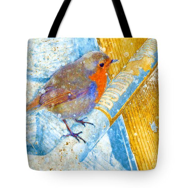 Tote Bag featuring the photograph Garden Robin by LemonArt Photography