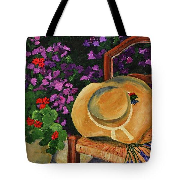Garden Scene Tote Bag