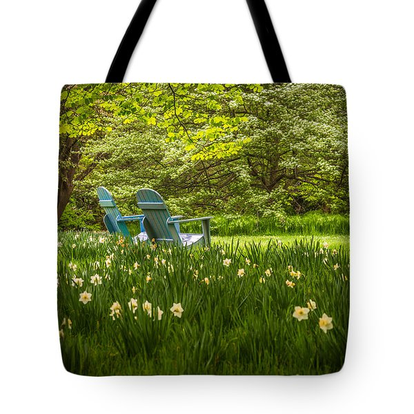 Garden Seats Tote Bag