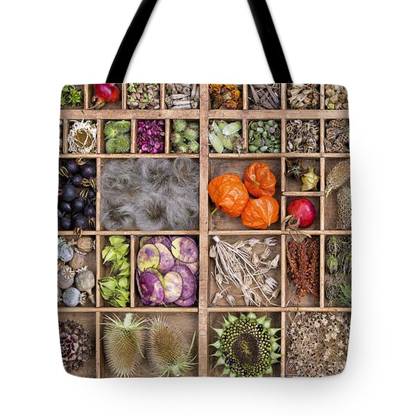 Garden Seed Pods Tote Bag