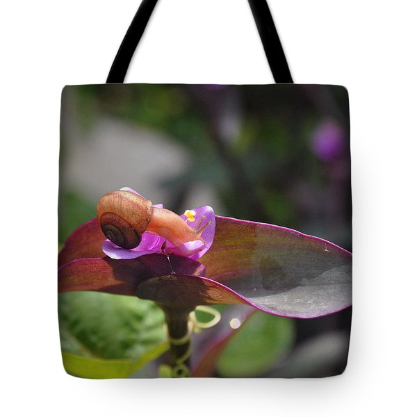 Garden Snails Wandering Tote Bag