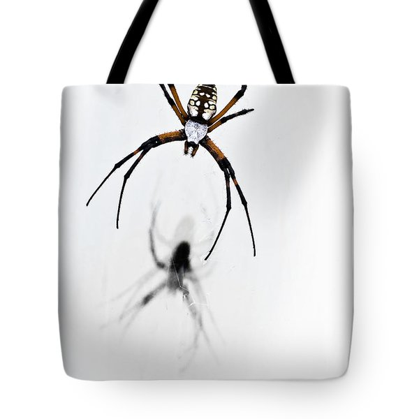 Garden Spider With Shadow Tote Bag by Tamyra Ayles