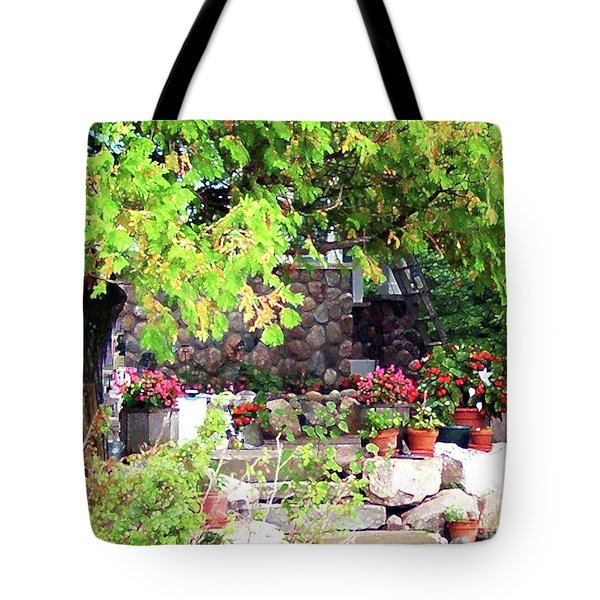 Garden Terrace Tote Bag by Desiree Paquette