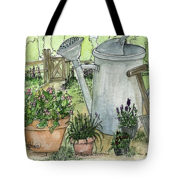 Garden Tools Tote Bag