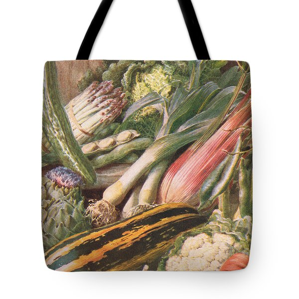 Garden Vegetables Tote Bag by Louis Fairfax Muckley