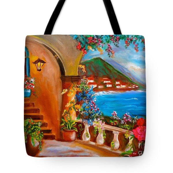 Garden Veranda 1 Tote Bag by Jenny Lee