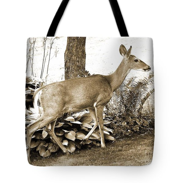 Garden Visitor Tote Bag by Betsy Zimmerli