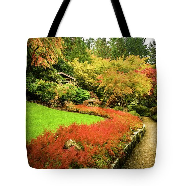 Tote Bag featuring the photograph Garden Walk by Steven Sparks