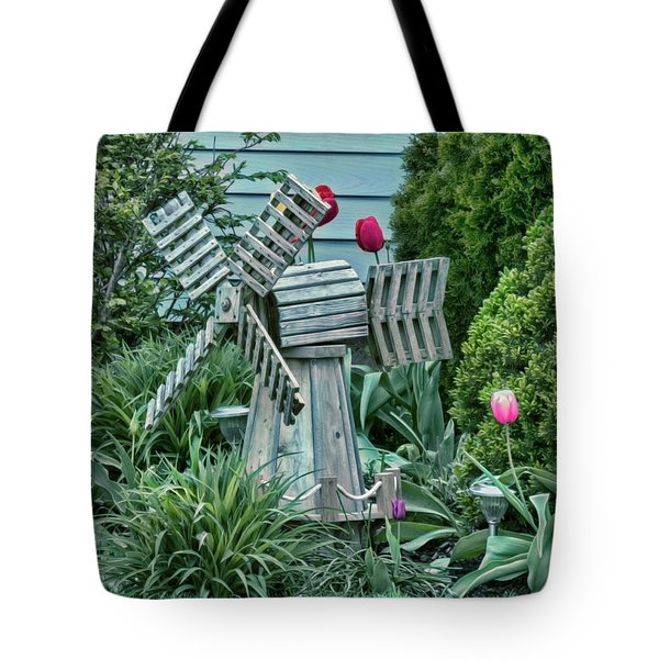 Garden Windmill Tote Bag
