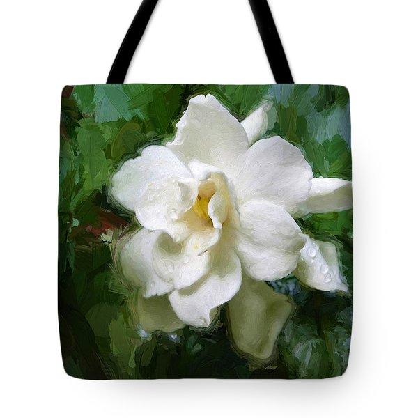 Gardenia Blossom Tote Bag