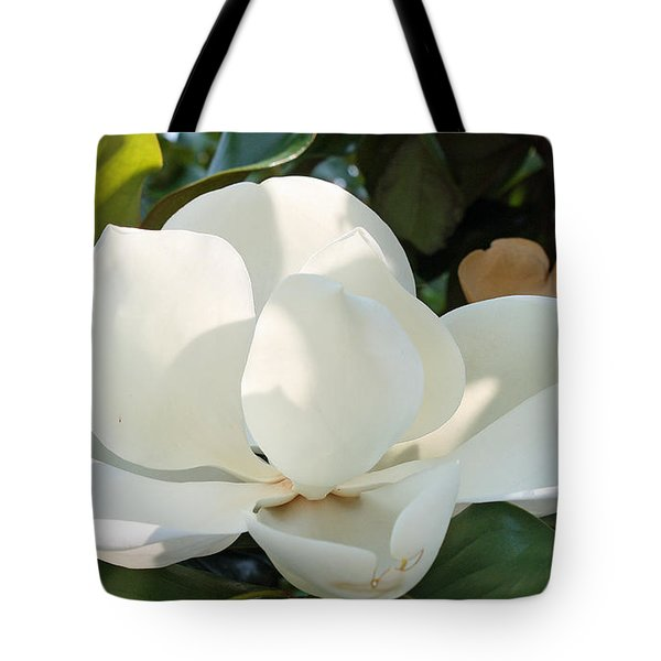 Tote Bag featuring the photograph Magnolia by Ellen Tully