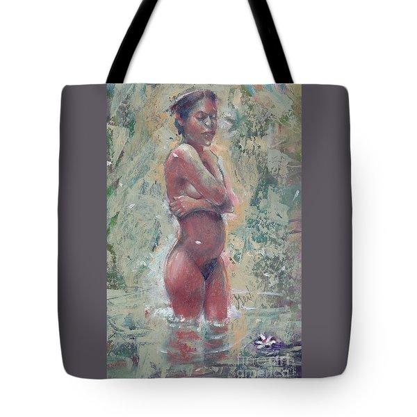 Gardenia Negra Tote Bag by Gertrude Palmer
