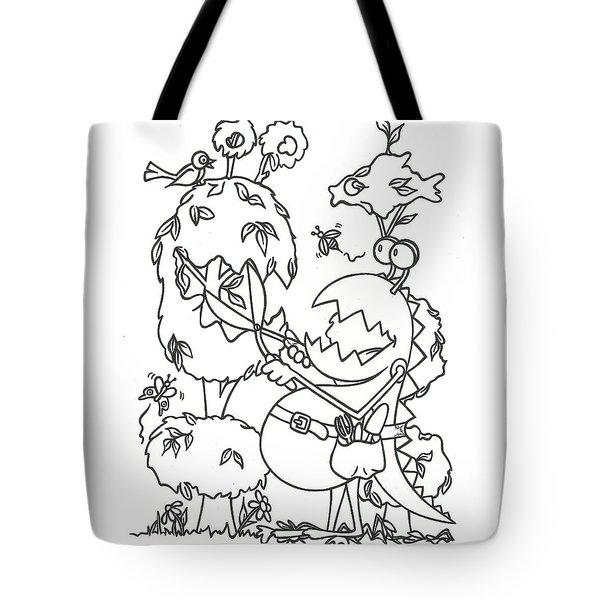 Gardening Monster Tote Bag