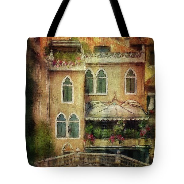Gardening Venice Style Tote Bag by Lois Bryan
