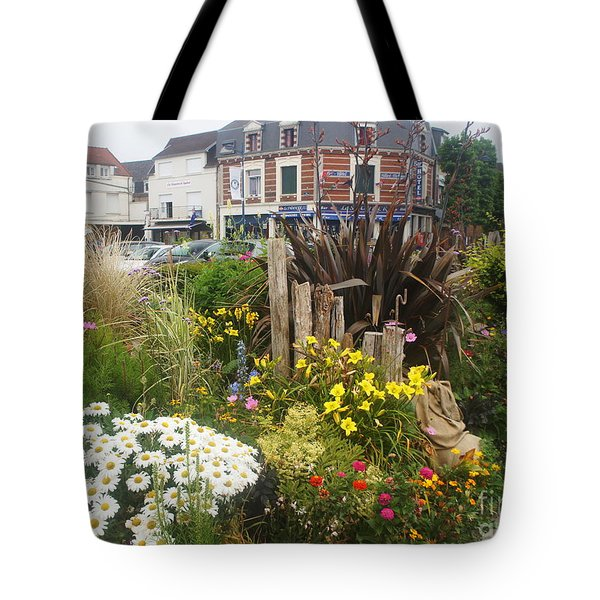 Tote Bag featuring the photograph Gardens At Albert Train Station In France by Therese Alcorn
