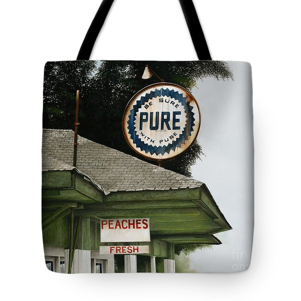 Gardner's Peaches Tote Bag by Mike England
