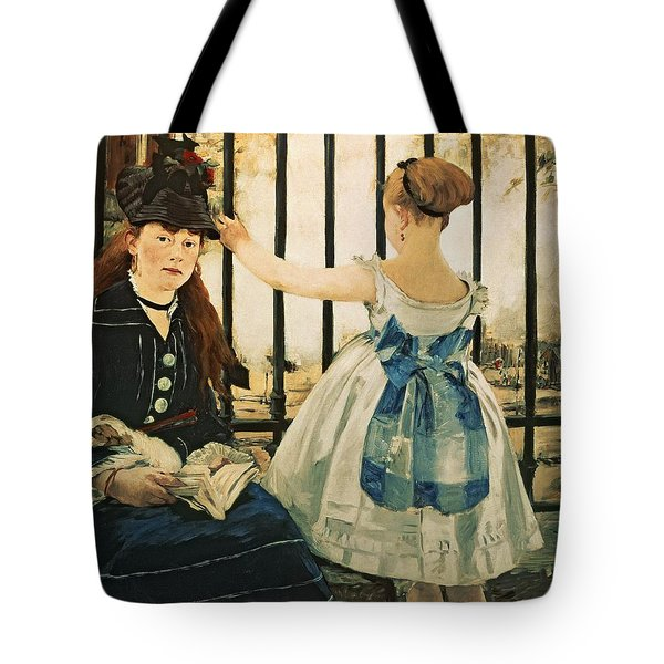 Gare St Lazare Tote Bag by Edouard Manet