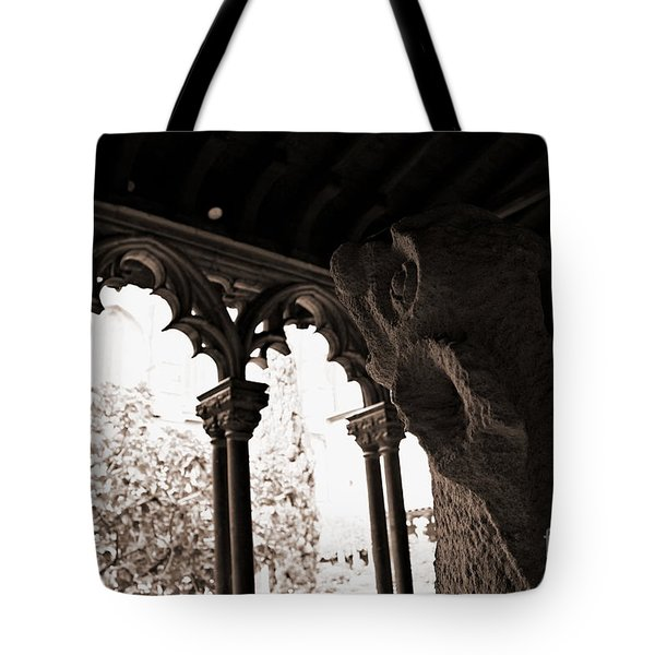 Tote Bag featuring the photograph Gargoyle by Cendrine Marrouat