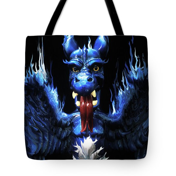 Tote Bag featuring the photograph Gargoyle by Jim and Emily Bush