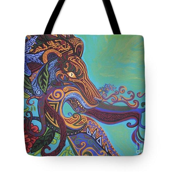 Gargoyle Lion Tote Bag by Genevieve Esson