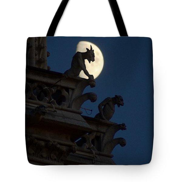 Gargoyle Night Watch Tote Bag by Matthew Green