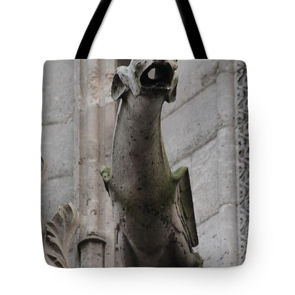 Gargoyle Notre Dame Tote Bag by Christopher Kirby