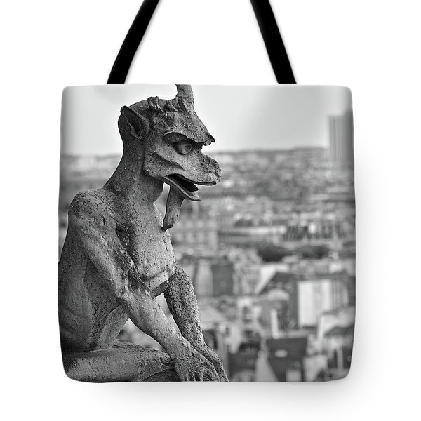 Gargoyle Over Paris Tote Bag