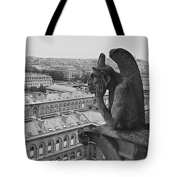 Gargoyles Of Notre Dame Tote Bag