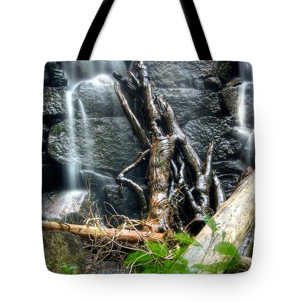 Tote Bag featuring the photograph Garland Falls Dam Vi - Hdr by Greg DeBeck