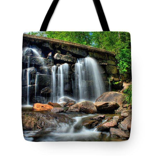 Tote Bag featuring the photograph Garland Falls II by Greg DeBeck