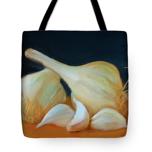 Garlic 01 Tote Bag by Wally Hampton