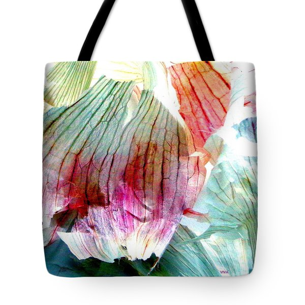 Tote Bag featuring the photograph Garlic  Abstract   Series by VIVA Anderson