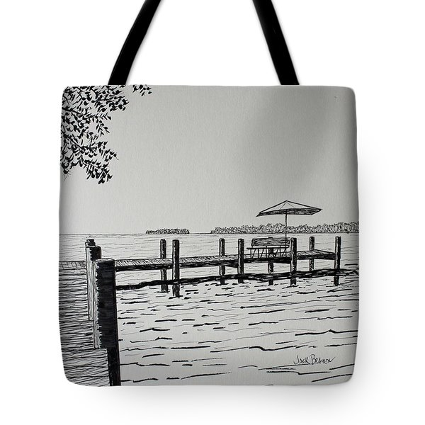 Garlic Island Lake Winnebago Tote Bag by Jack G  Brauer