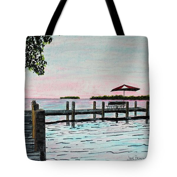 Garlic Island On Lake Winnebago Tote Bag by Jack G  Brauer