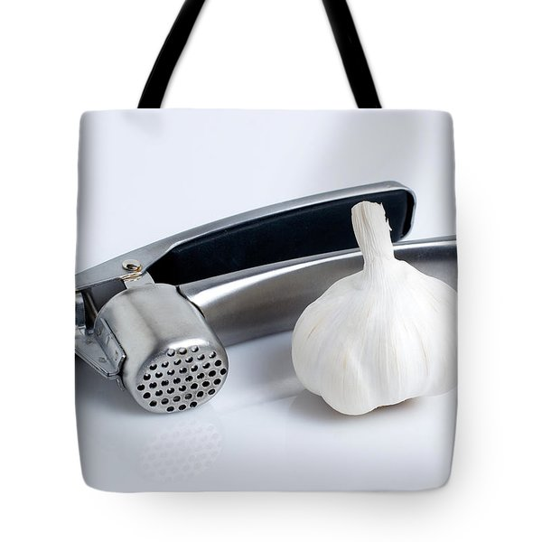 Garlic Press With Garlic Tote Bag