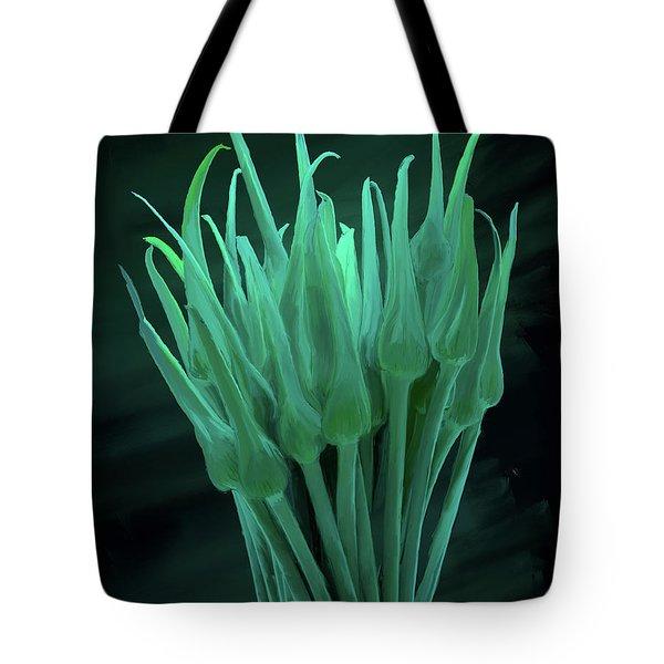 Garlic Scapes 01 Tote Bag by Wally Hampton