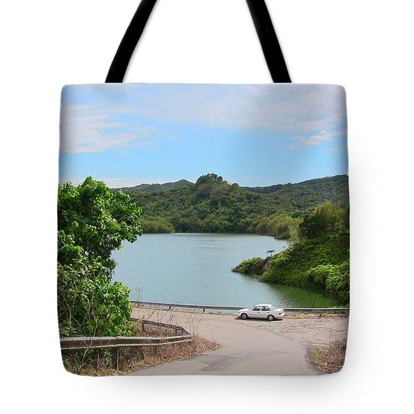 Garzas Lake Road Tote Bag