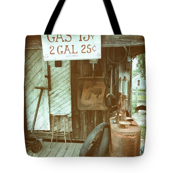Tote Bag featuring the photograph Gas 13 Cents by Charles McKelroy