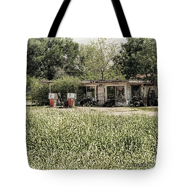 Tote Bag featuring the photograph Gas 25 Cents by Charles McKelroy