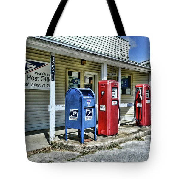 Tote Bag featuring the photograph Gas And Mail by Paul Ward