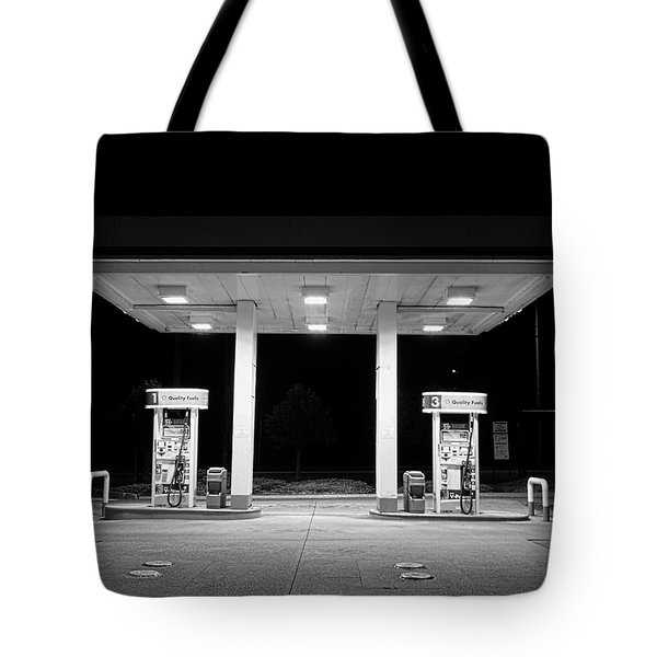 Gas At Night Tote Bag